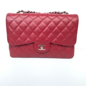 Authentic Chanel Jumbo Caviar SHW